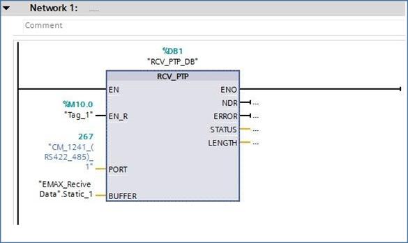 دریافت اطلاعات توسط PLC-S7-1200 تحت استانداردRS-422