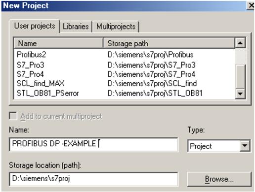ایجاد پروژه جدید در نرم افزار STEP7
