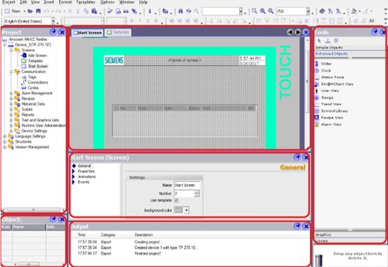 آشنایی با محیط نرم افزار WinCC flexible