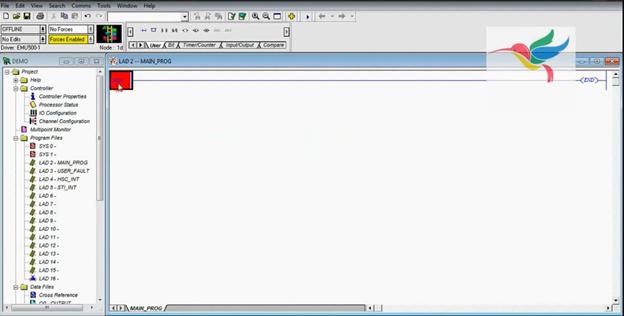 محیط نرم افزار RSLogix