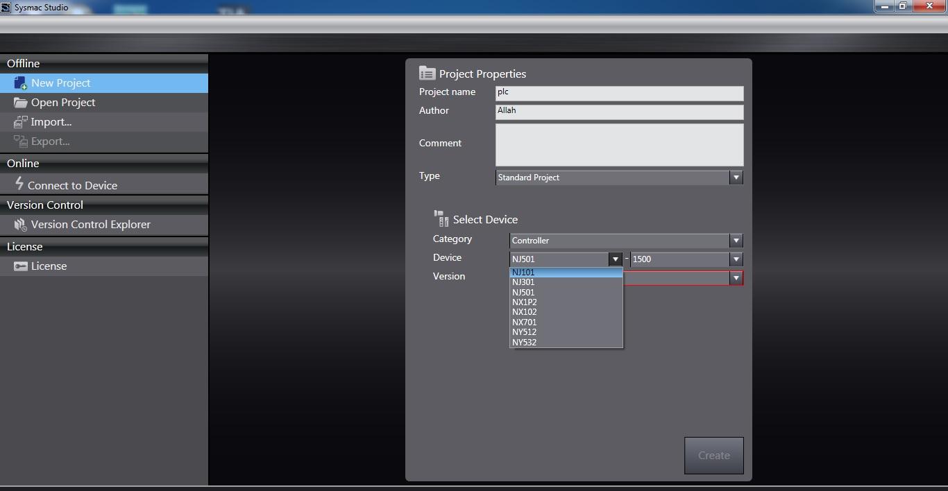 فروش نرم افزار Sysmac Studio